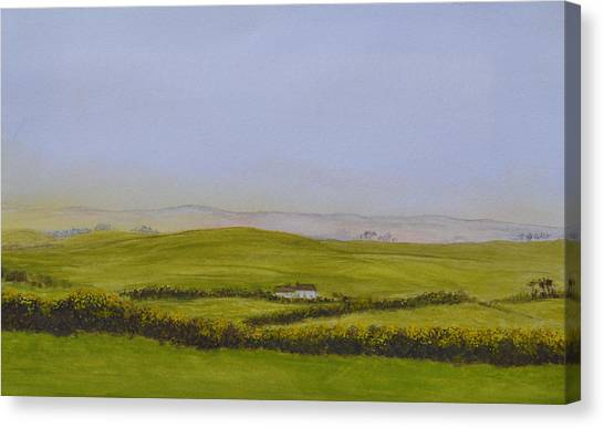 Peaceful Fields Of Ireland Canvas Print