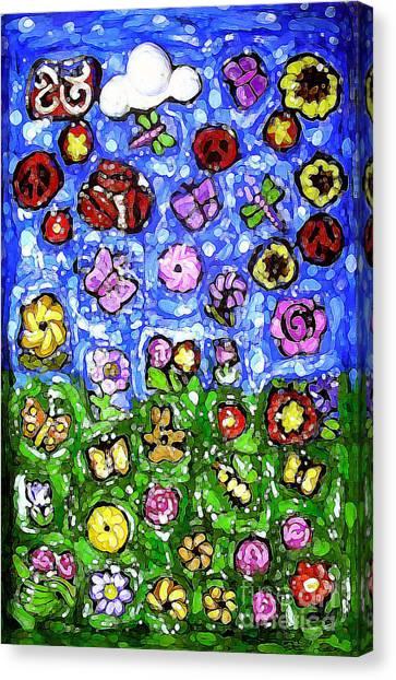 Peaceful Glowing Garden Canvas Print