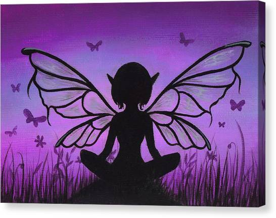 Fairy Canvas Print - Peaceful Meadows by Elaina  Wagner