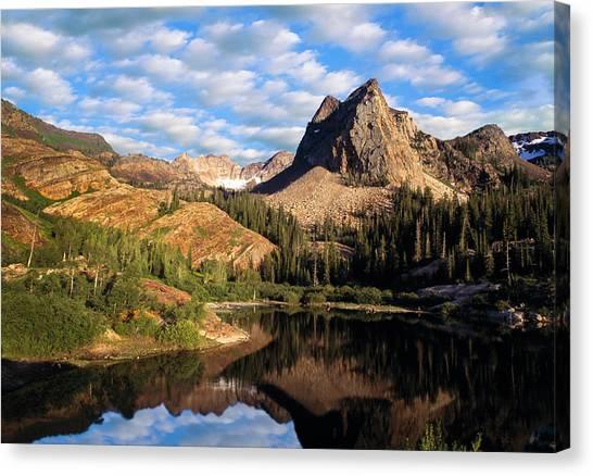 Peaceful Mountain Lake Canvas Print
