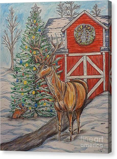 Peaceful Noel Canvas Print