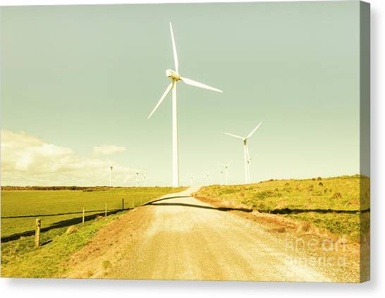 Wind Farms Canvas Print - Peaceful Pastel Wind Farm by Jorgo Photography - Wall Art Gallery
