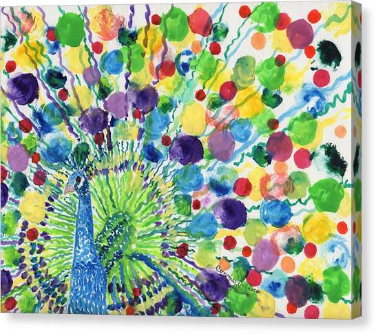 Peaceful Peacock Canvas Print