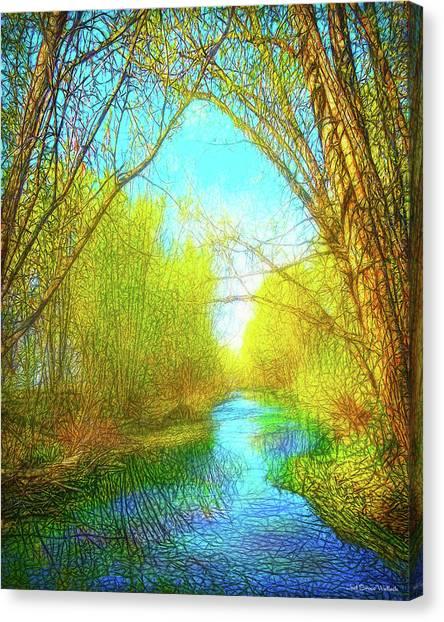 Peaceful River Spirit Canvas Print