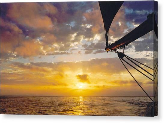 Peaceful Sailing Canvas Print by Kathy Schumann