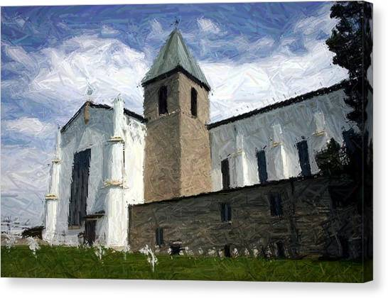 Trappist Monk Canvas Print - Peaceful Skies Over Abbey Of Gethsemani - Trappist Ky by Thia Stover