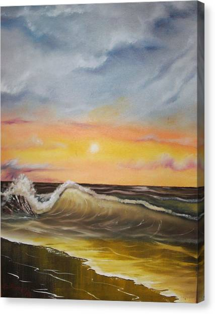 Peaceful Wave Canvas Print by Scott Easom