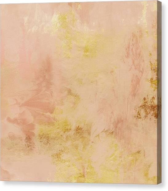 Gold Canvas Print - Peach Harvest- Abstract Art By Linda Woods. by Linda Woods
