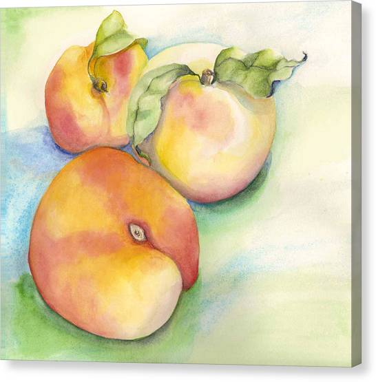 Peach Time Canvas Print