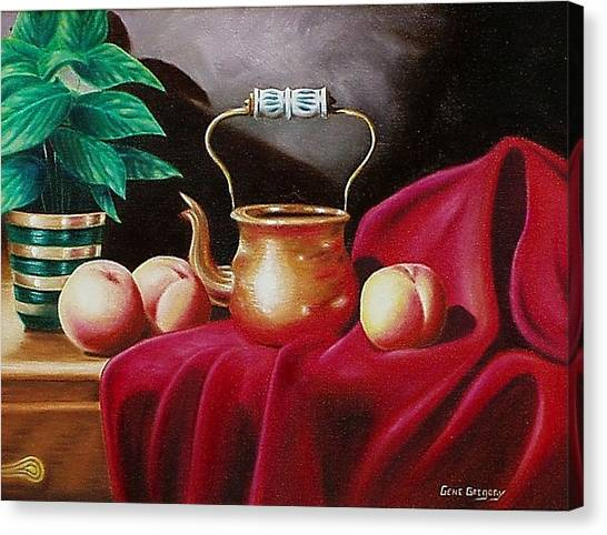 Peaches And Pot Canvas Print