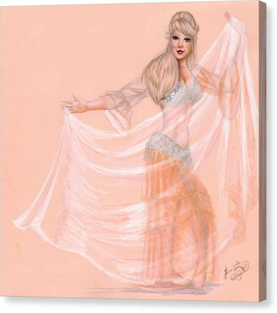 Peachy Dancer Canvas Print by Scarlett Royal