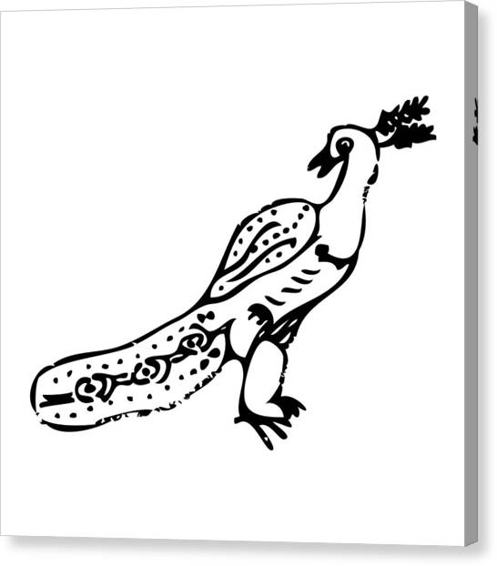 Peacock Bird Canvas Print by Karl Addison