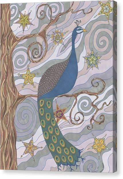 Peacock Dream's Canvas Print