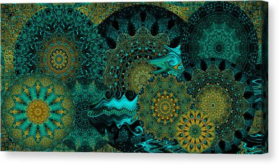 Peacock Fantasia Canvas Print