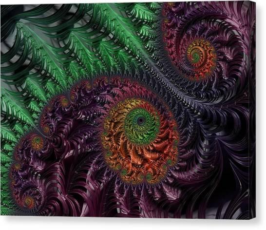 Peacock's Eye Canvas Print