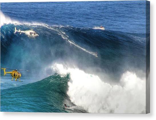 Jaws Canvas Print - Peahi Maui by Dustin K Ryan