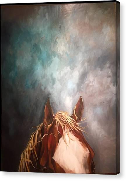 Peakabo  Canvas Print
