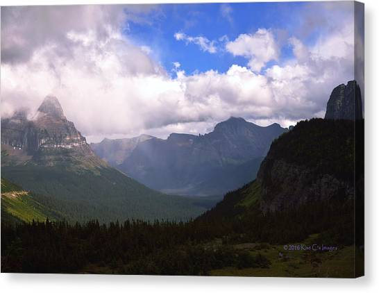 Peaks And Valleys Glacier National Park Canvas Print