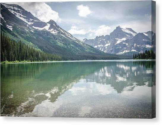 Canvas Print featuring the photograph Peaks At Lake Josephine by Margaret Pitcher