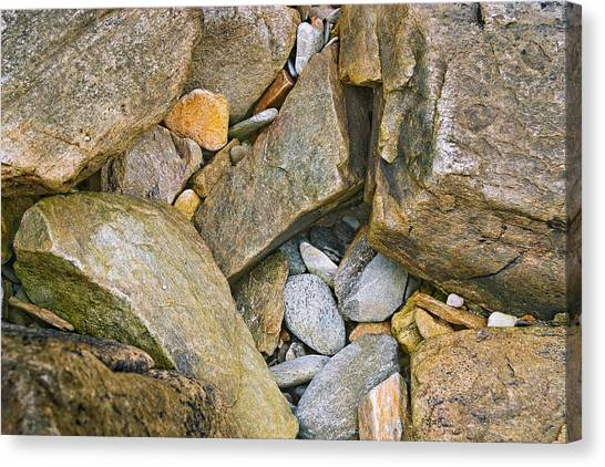 Peaks Island Rock Abstract Photo Canvas Print by Peter J Sucy