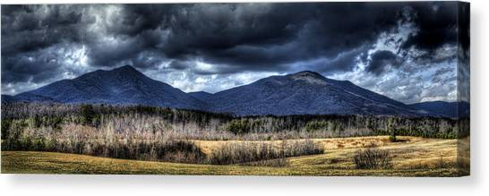 Peaks Of Otter Storm Clouds Canvas Print