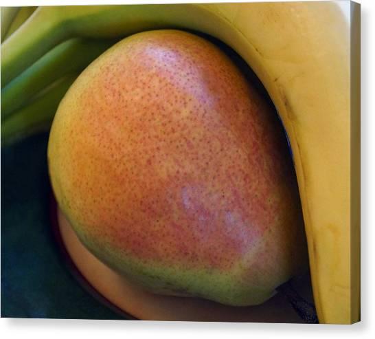 Pear And Banana Canvas Print