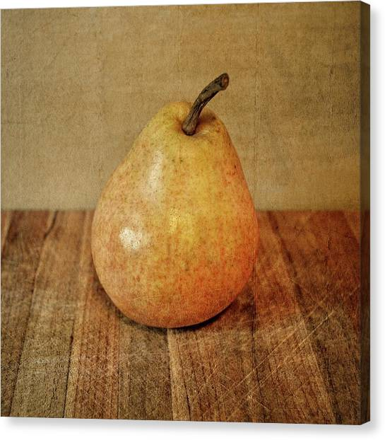 Pear On Cutting Board 3.0 Canvas Print
