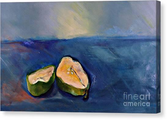 Pear Split Canvas Print