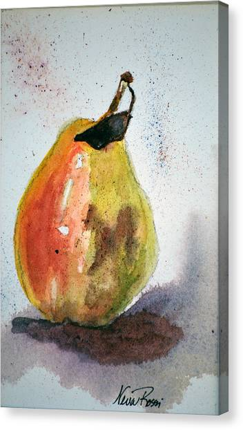Pear Study Canvas Print by Neva Rossi