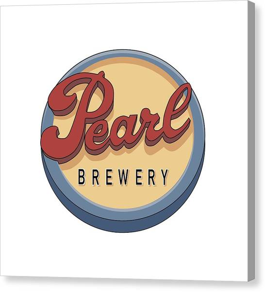 Pearl Brewery Sign Canvas Print