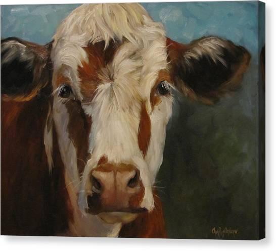 Farm Animals Canvas Print - Pearl by Cheri Wollenberg