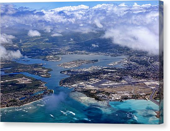 Pearl Harbor Aerial View Canvas Print