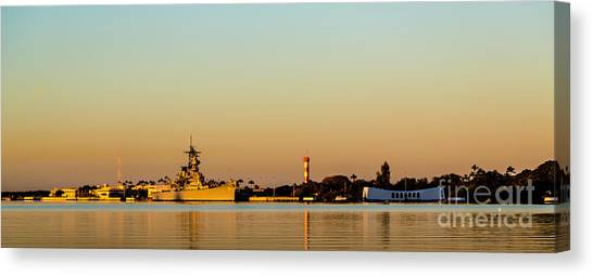 Pearl Harbor Dawn Canvas Print