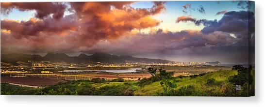 Pearl Harbor Sunset Canvas Print