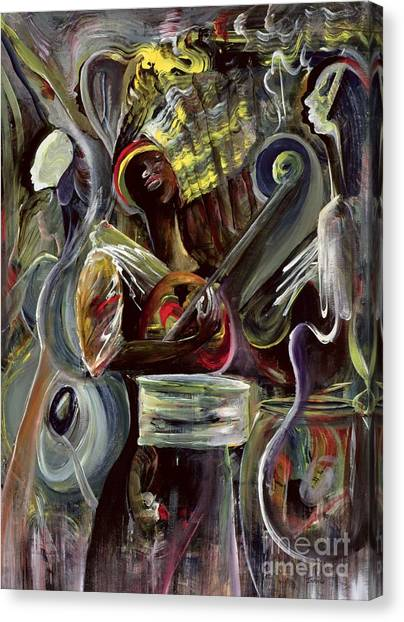 Percussion Instruments Canvas Print - Pearl Jam by Ikahl Beckford