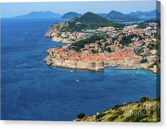 Pearl Of The Adriatic, Dubrovnik, Known As Kings Landing In Game Of Thrones, Dubrovnik, Croatia Canvas Print