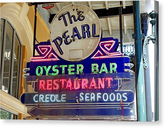 Pearl Oyster Bar Canvas Print
