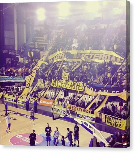 Portal Canvas Print - #peñarol #basket by Fernando Portal