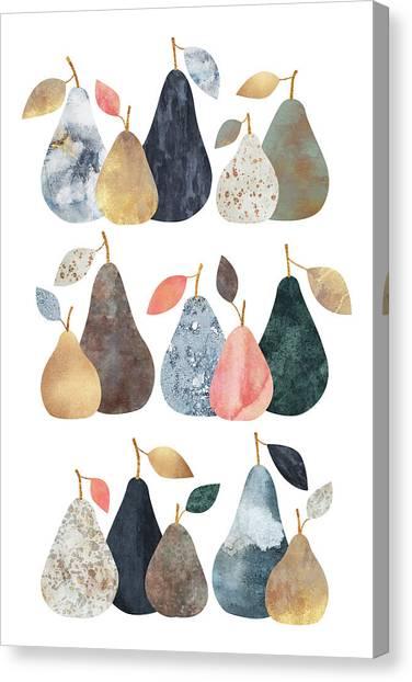 Pears Canvas Print - Pears by Elisabeth Fredriksson