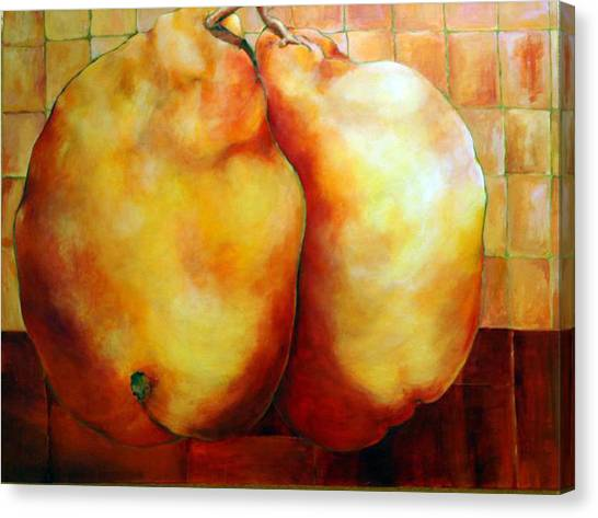 Pears In Love Canvas Print