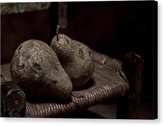 Pears Canvas Print - Pears On A Chair I by Tom Mc Nemar