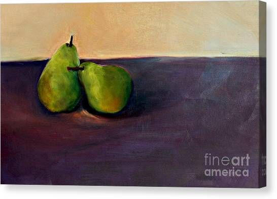 Pears One On One Canvas Print