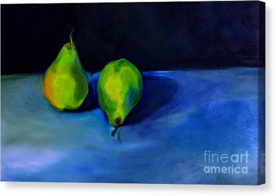 Pears Space Between Canvas Print