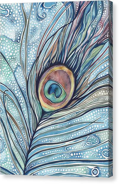 Art Nouveau Canvas Print - Pea's Feather by Tamara Phillips