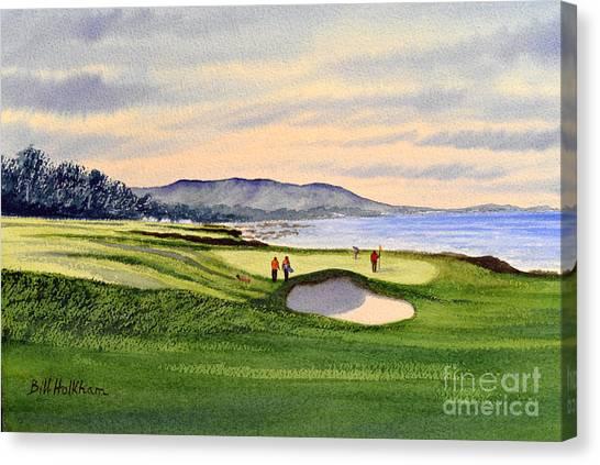 Pebble Beach Golf Course 9th Green Canvas Print