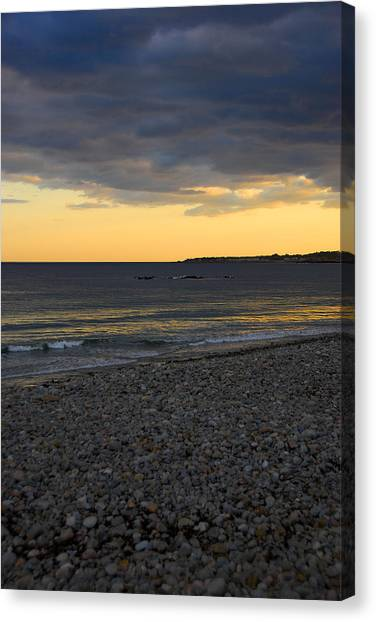 Pebble Beach Sunset Canvas Print