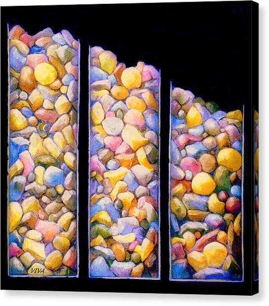 Pebble Dash Canvas Print