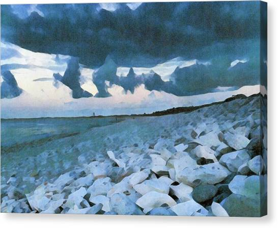 Canvas Print - Pebbled Beach by Bitten Kari