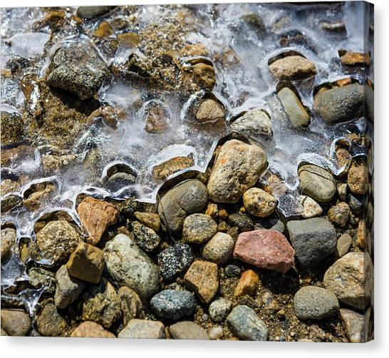 Pebbles And Ice Canvas Print