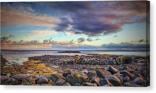 Canvas Print featuring the photograph Pebbles And Sky  #h4 by Leif Sohlman